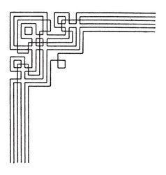 angle border interlacement band is a modern vector image