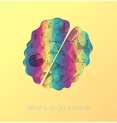 Artistic brain design vector