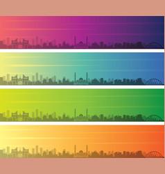 Astana multiple color gradient skyline banner vector