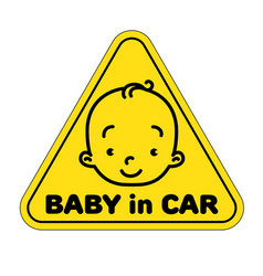 baby in car sticker vector image