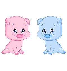 Baby pigs vector