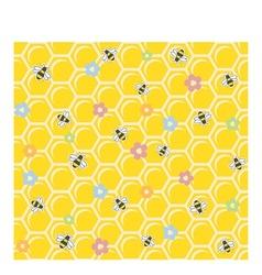 Bee on honeycomb Seamless vector image