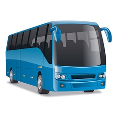 Blue city bus vector