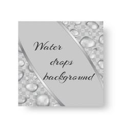 Brochure with drops of water vector