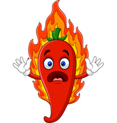 cartoon hot chili pepper vector image
