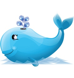 Cartoon whale design vector image