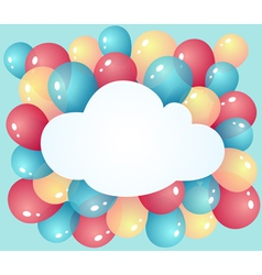 Cloud with balloons vector image