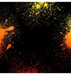 Colorful yellow orange and red grungy gradient vector image