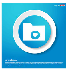 computer folder icon abstract blue web sticker vector image