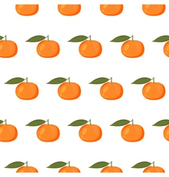 Cute seamless pattern with mandarins vector image