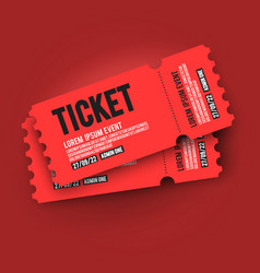 Ed vip entry pass ticket stub design template vector