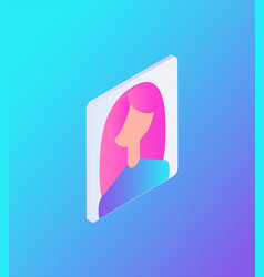 Female avatar for site icon vector