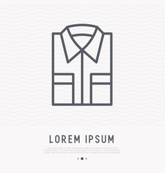 Folded shirt thin line icon vector