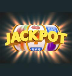Golden slot machine wins jackpot casino vector