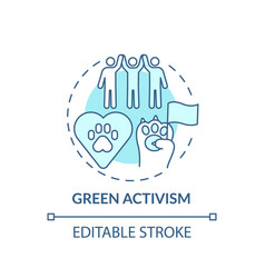 Green activism turquoise concept icon vector