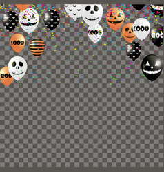 halloween background with air balloons vector image