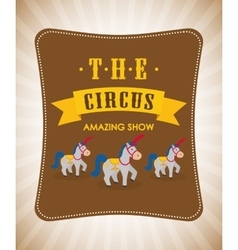 Horse icon Circus and Carnival design vector