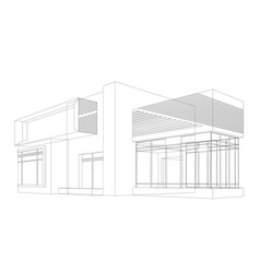 House models wireframe vector