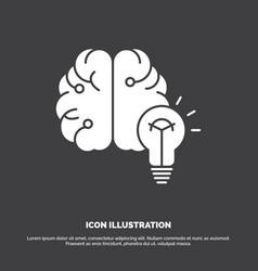 idea business brain mind bulb icon glyph symbol vector image
