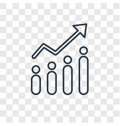 investment concept linear icon isolated on vector image