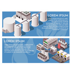 isometric factory banners vector image