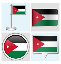 Jordan flag - sticker button label flagstaff vector