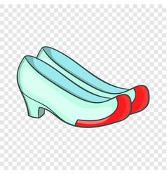 Korean traditional shoes icon cartoon style vector