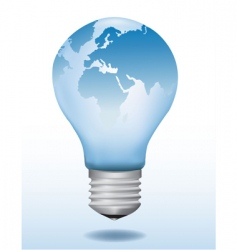 light bulb world map vector image