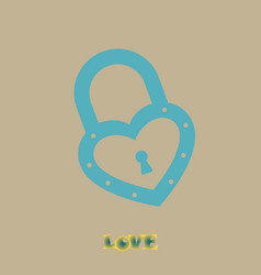 lock icons a simple silhouette of the lock for vector image