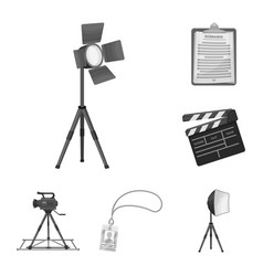 Making a movie monochrome icons in set collection vector