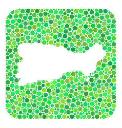 Map capri island - dotted collage with hole vector