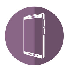 Mobile phone technology shadow vector