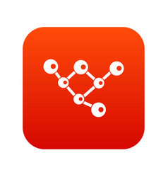 molecule structure icon digital red vector image