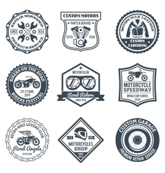 Motorcycle Labels Black vector image