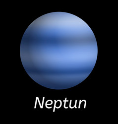 neptun planet icon realistic style vector image