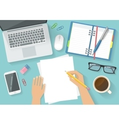 Office Workspace Concept vector