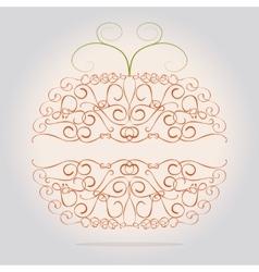Ornamental decorative orange pumpkin vector