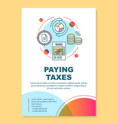 Paying taxes poster template layout revenue vector