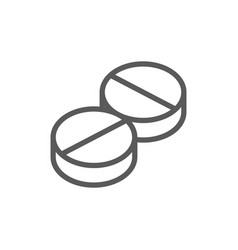 Pills tablet line icon vector