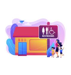 Public restroomsconcept vector