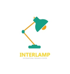 Reading-lamp logo vector image