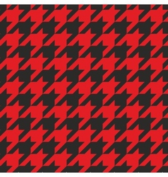 Red and black tweed houndstooth background vector