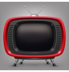 Retro red tv vector image vector image