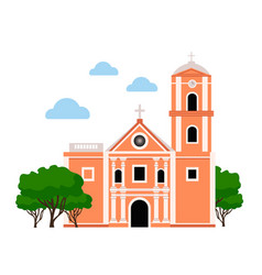 san agustin church vector image
