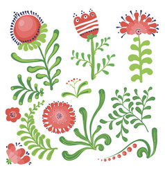 Set of floral graphic design elements vector