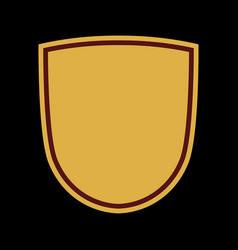 shield flat icon emblem vector image