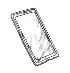 smartphone electronic technology monochrome vector image