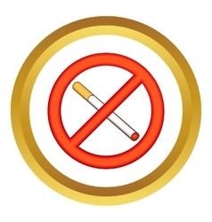 Smoking is prohibited icon vector
