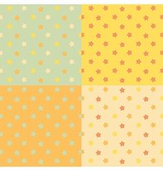 Stars seamless pattern set vector image
