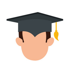 student graduated head avatar character vector image